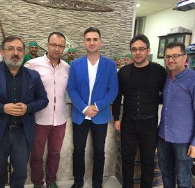 ünlü oyuncu Mesut kaçarlı Kontv genel yayın yönetmeni Mustafa tatlısu